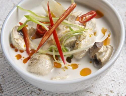 Sopa Tailandesa de Pollo y Leche de Coco