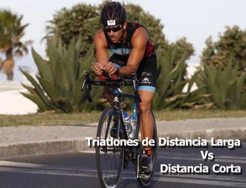 Triatlón larga distancia-corta distancia