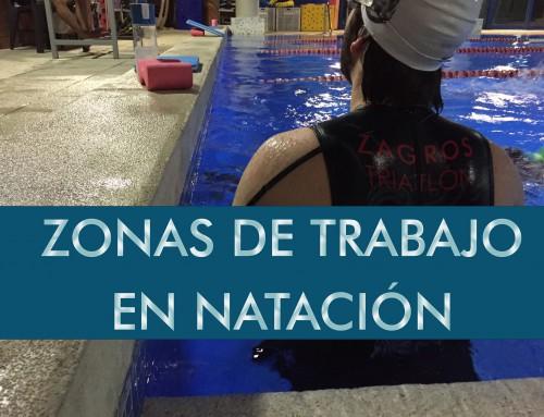 Zonas de trabajo en natación
