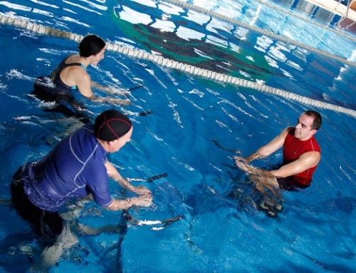 Aquacycling era la sorpresa que esperaba en esa piscina.